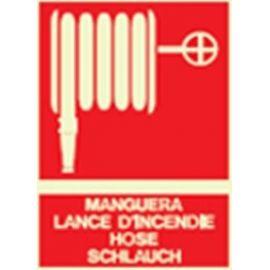 Cartel fotoluminiscente manguera