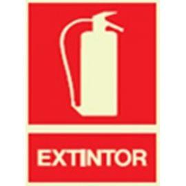 Cartel fotoluminiscente extintor