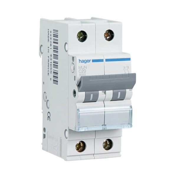 Interruptor magnetotérmico 25A 1P+N Hager serie MU