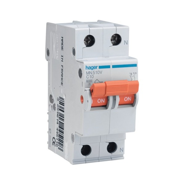 Interruptor magnetotérmico 32A 1P+N Hager serie MN