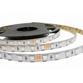 Rollo 5 metros tira de led flexible 14,4W/m RGB+W 24V 3000K