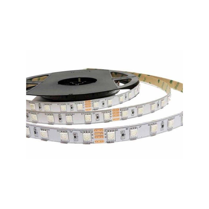 Rollo 5 metros tira de led flexible 14,4/m RGB+W 24V 3000K