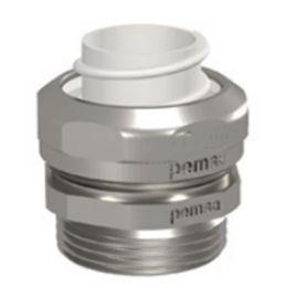 Racor RM recto metálico para tubo TM-PVC DN9 rosca PG9 Pemsa 37020009