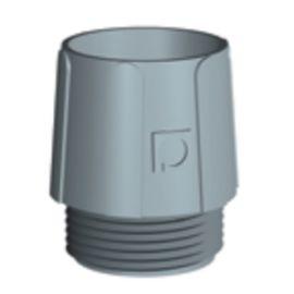 Racor P recto de poliamida para tubo TFA DN9 rosca PG9 Pemsa 30010009