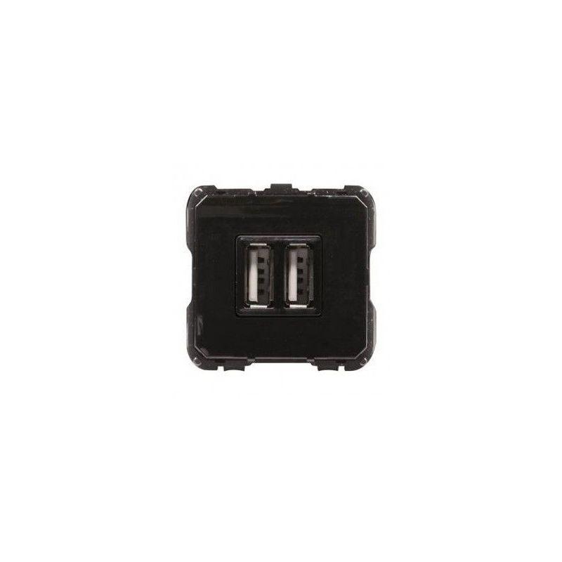 Toma Cargador USB doble 1500mA 5V Niessen 8185