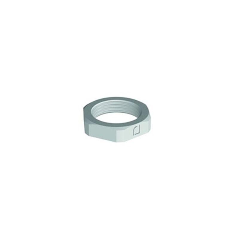 Tuerca de poliamida gris rosca M20 para prensaestopa