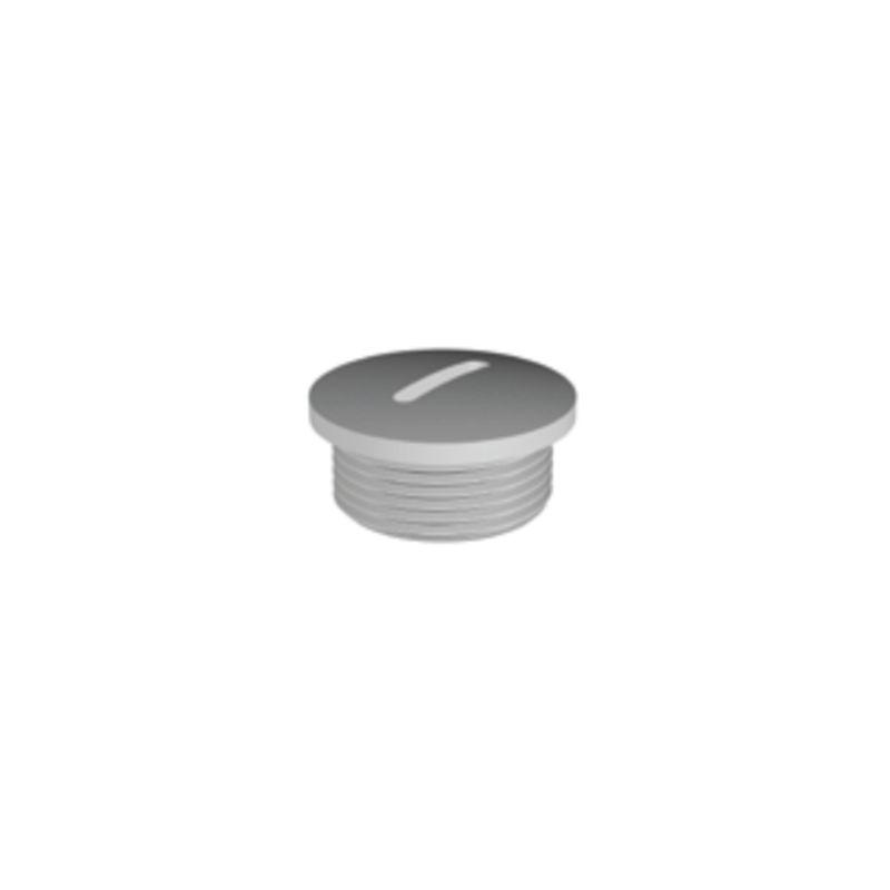 Tapón de cierre poliamida gris rosca PG16