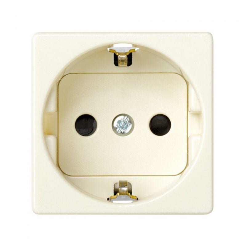 Interruptores y Enchufes por marca SIMON Base de enchufe Schuko 2P+TT marfil Simon 27 embornamiento tornillo 27472-62