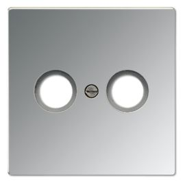 Tapa TV-FM 2 tomas aluminio Jung AL2990TV