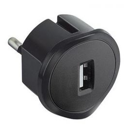 Cargador USB Enchufable Negro Legrand 050681