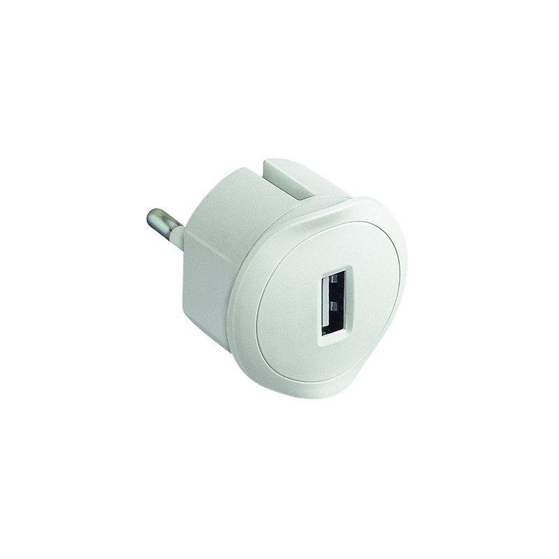 Adaptador USB blanco Legrand