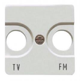 Tapa toma TV ancha blanco BJC Sol Teide 16330