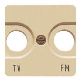 Tapa toma TV ancha beige BJC Sol Teide 16330-A