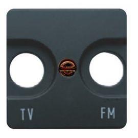 Tapa toma TV ancha caoba BJC Sol Teide 16330