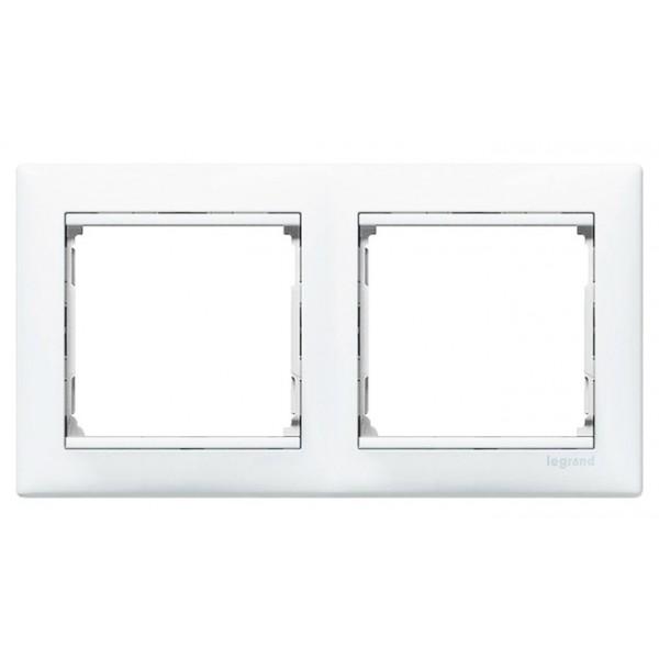 Marco 2 elementos blanco Valena horizontal Legrand 774452
