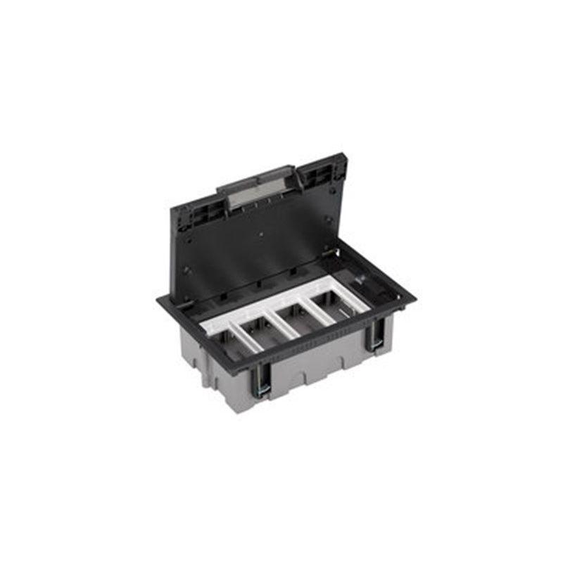 Caja suelo regulable 4 módulos grafito Simon 500 CIMA