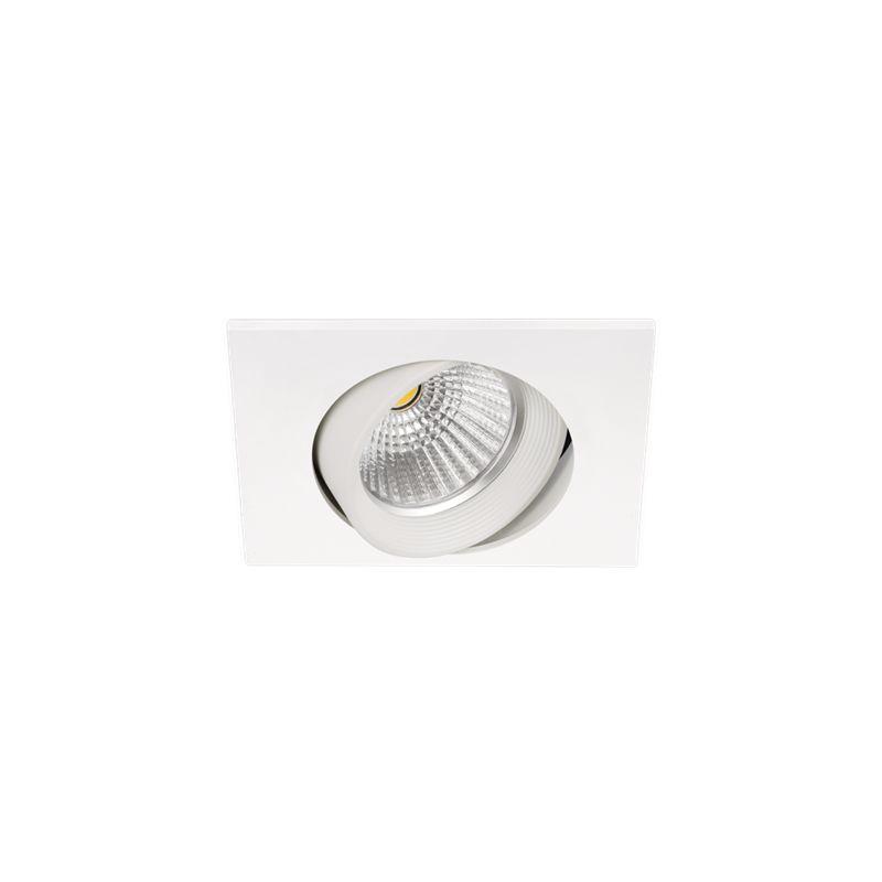 Focos de empotrar led cuadrados ARKOSLIGHT Foco led Dot Square Tilt blanco 830 5W Arkoslight A0650111W