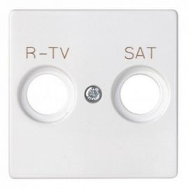 Tapa toma R-TV SAT blanco Simon 82 82097-30