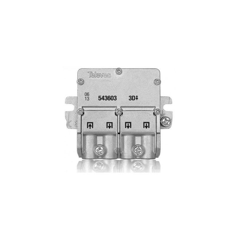 Mini repartidor 3 salidas EasyF Televes 543603
