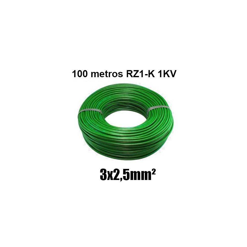Manguera 3x2,5mm RZ1-K 0,6/1KV LH verde rollo 100m