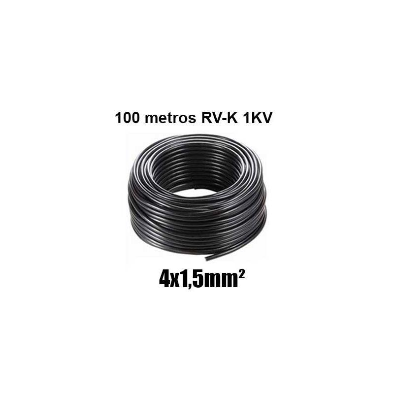 Manguera 4X1,5mm RV-K0.6/1KV Negra Rollo 100m