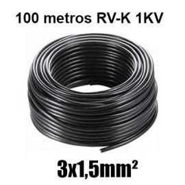 Manguera 3X1,5mm RV-K0.6/1KV Negra Rollo 100m