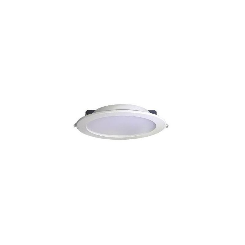 Downlights Led circulares JISO Downlight LED blanco Micro panel 8W luz neutra d.120mm blanco