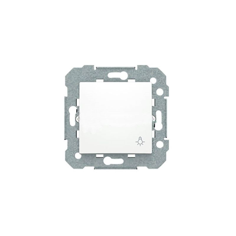 Pulsador blanco símbolo bombilla BJC Viva 23516-2