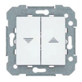 Doble interruptor persiana BJC Viva blanco 23569