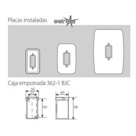 Mecanismos BJC Marco blanco 1 elemento estrecho 16661-B BJC Rehabitat - reemplazo Estrella