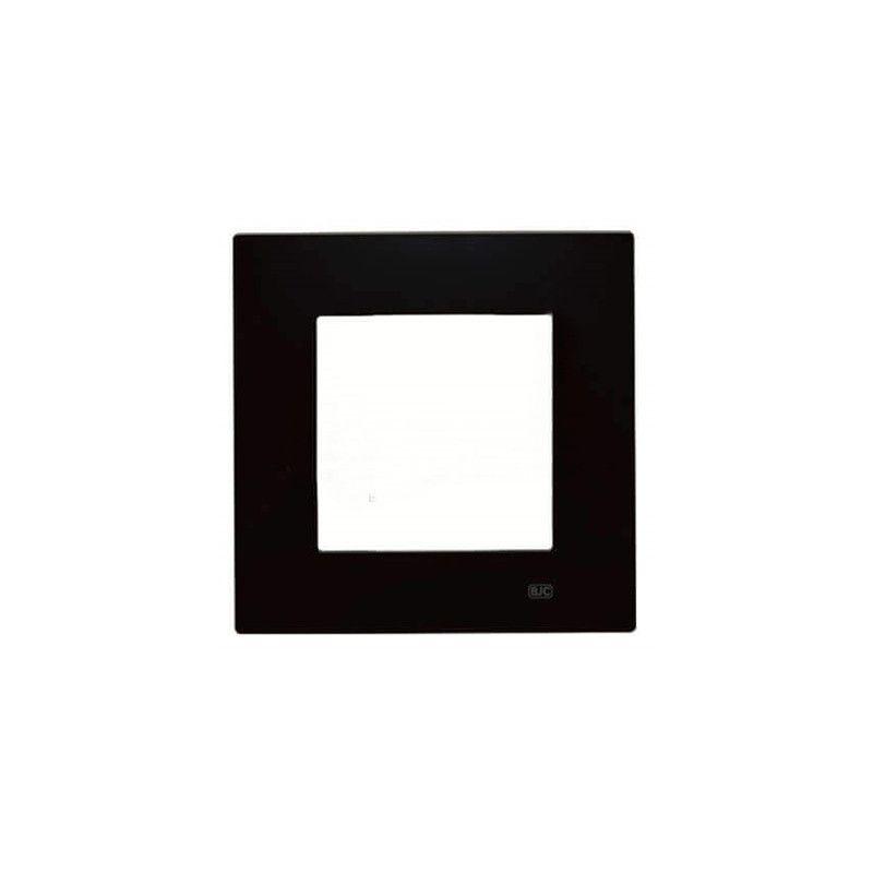 Interruptores y Enchufes por marca BJC Marco negro piano 1 elemento BJC Viva 23001-NP