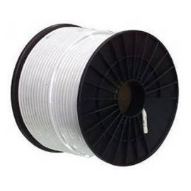 Cable coaxial PC100 6.6 mm blanco rollo 100M
