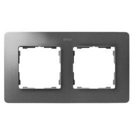 Marco 2 elementos aluminio frío base blanco Simon 82 Detail
