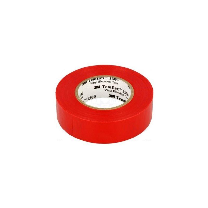 Bridas y sujeción 3M Cinta aislante roja de PVC 20 metros Templex 1300 3M