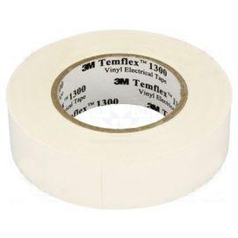 Cinta aislante blanca de PVC 20 metros Templex 1300 3M