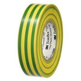 Cinta aislante amarilo verde de PVC 20 metros Templex 1300 3M