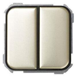 SIMON SIMON Interruptor doble marrón decorado Simon 31 Ref. 31398-36