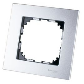 Marco 1 elemento aluminio Schneider Elegance MTN4010-3160