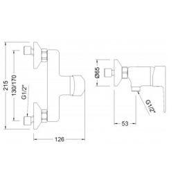 Griferia baño y cocina GENEBRE Kit monomando de ducha K8 Genebre