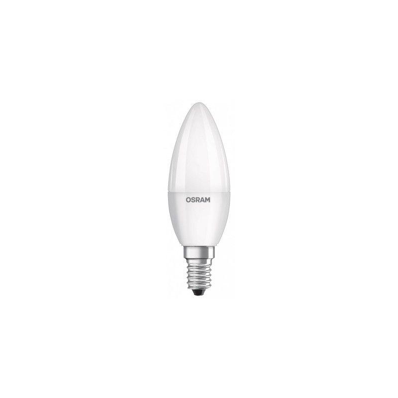 Por Marca LEDVANCE Bombilla Led tipo vela 5W luz blanca cálida 827 E14 Osram