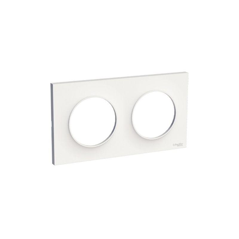 Interruptores y Enchufes por marca SCHNEIDER Marco 2 elementos blanco Schneider Odace Styl S520704