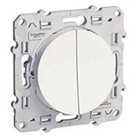 Interruptor doble blanco Schneider Odace S520211