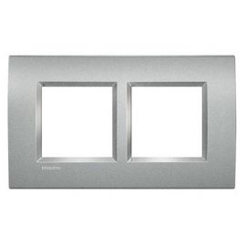Marco 2 elementos alumino Bticino Livinglight LNA4802M2TE