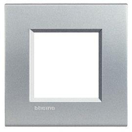 Marco 1 elemento aluminio Bticino Livinglight LNA4802TE