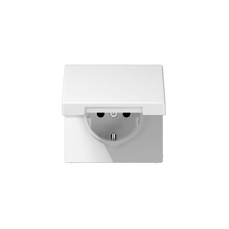 Interruptores y Enchufes por marca JUNG Base enchufe schuko con tapa abatible blanco Jung LS1520KIKLWW