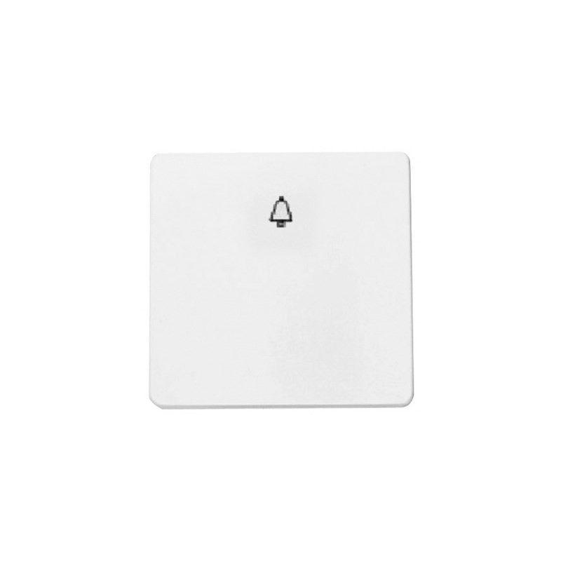 Stylo ABB NIESSEN Pulsador símbolo timbre ancho blanco alpino 2204BA Stylo Niessen