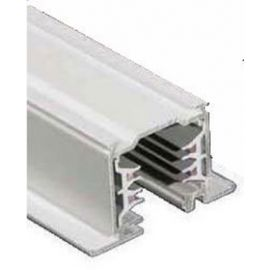 Carril iluminación trifásico superficie 1m blanco