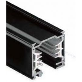 Carril iluminación trifásico superficie 3m negro