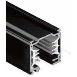 Carril iluminación trifásico superficie 1m negro