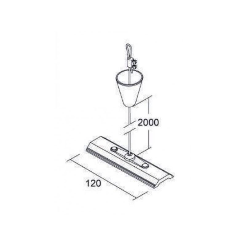 Focos LED para carril FREPI Kit Suspensión cable acero 2 metros color blanco
